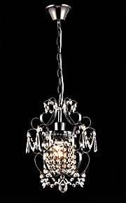 MAX60W Contemporain Cristal / Candle style Peintures Métal Lustre Salle de séjour / Chambre à coucher / Cuisine