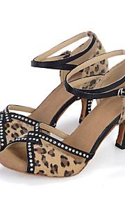 Sapatos de Dança(Preto / Rosa) -Feminino-Personalizável-Dança do Ventre / Latina / Jazz / Tênis de Dança / Moderna / Samba / Sapatos de