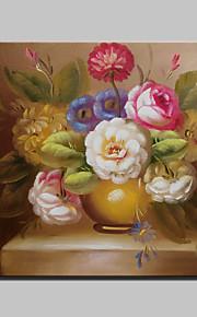 미니 사이즈의 거실 홈 장식 20x25cm 프레임과 캔버스에 고전적인 꽃 유화 손으로 그린