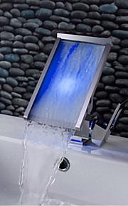 Vannrett Montering Enkelt Håndtak Et Hull in Krom Bathroom sink tappekran
