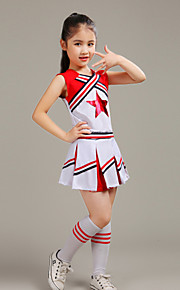 Cheerleader Costumes Children's Western Style Performance Polyester 2 Pieces Outfits