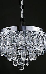 MAX40W Contemporain Cristal / Designers Chromé Métal LustreSalle de séjour / Chambre à coucher / Salle à manger / Cuisine / Bureau/Bureau