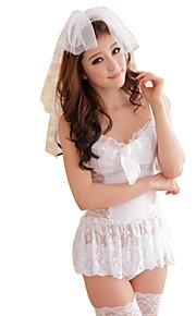 Women Uniforms & Cheongsams / Babydoll & Slips / Ultra Sexy Nightwear,Polyester
