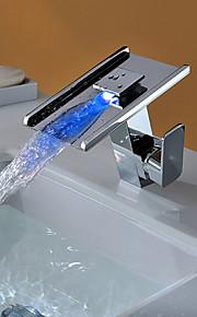 deckenmontiert Einhand Ein Loch in Chrom Waschbecken Wasserhahn