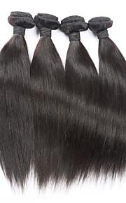 """4kpl paljon 8 """"-30"""" Brasilian neitsyt hiukset suoraan luonnon musta hiuksista sotkeutumaton hiusten pidennykset"""