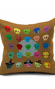 2016 New Arrival  Skull Car Cotton/Linen Pillow Cover , Nature Modern/Contemporary Pillow Linen Cushion