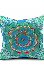 Morocco Flowers Totem Printing Cotton/Linen Pillow Cover , Nature Modern/Contemporary  Pillow Linen Cushion
