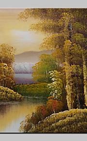 ミニサイズの手描きの風景現代の油絵20x25cmをハングアップする準備ができて、キャンバス1つのパネルに