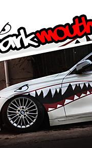 """Dimensioni B 60 """"* 18"""" cool bocca dei denti di squalo Ho decalcomanie di carrozzeria auto adesivo riflettente (1 coppia)"""
