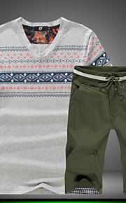 T-shirt Uomo Attività sportive Con stampe Manica corta Cotone / Elastene