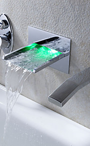 Wandmontage Einhand Drei Löcher in Chrom Badewannenarmaturen / Waschbecken Wasserhahn