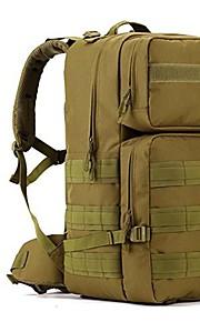 55L L Paquetes de Mochilas de Camping / mochila Acampada y Senderismo / Viaje Al Aire Libre Impermeable / Listo para vestir Marrón Nilón