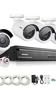 annke® 4 kanaals hd 1.3 mp 960p nvr poe beveiliging ip camera kit systeem thuisnetwerk outdoor CCTV-systeem
