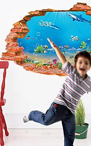 חיות / נוף / אנשים מדבקות קיר מדבקות קיר תלת מימד,pvc 60*90cm
