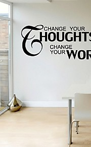 Change Your Thoughts Wall Stickers Home Decor Living Room Vinyl Removable Adhesive Wall Decals Quotes