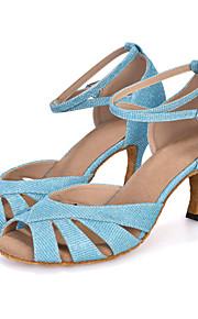 Sapatos de Dança(Azul / Verde / Roxo / Cinza) -Feminino-Personalizável-Dança do Ventre / Latina / Jazz / Moderna / Samba / Sapatos de
