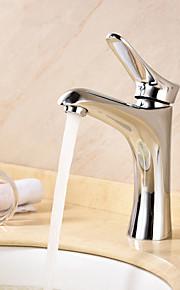 Mittellage Einhand Ein Loch in Chrom Waschbecken Wasserhahn