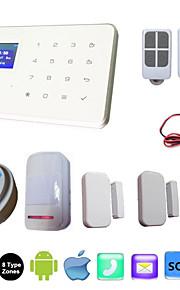 casa tocco alarma wireless i sistemi di allarme di GSM di sicurezza ios G18 Android Applicazione di controllo interfono con rilevatore di