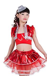 Jazz Children's Performance Spandex Sequins Tassel(s) 3 Pieces Outfits