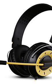 3,5 mm-kontakt kablede hodetelefoner (hodebånd) for datamaskinen
