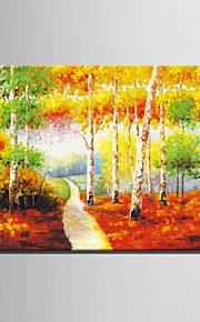 mini e-hjem olje maleri moderne farge skogen sti ren hånd trekke rammeløs dekormaling