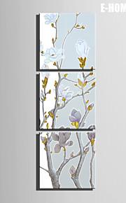 Botanisk Lerret Print Tre Paneler Klar til å henge,Kvadrat