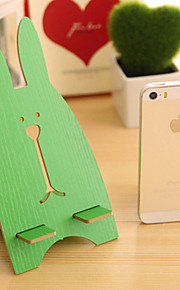 Rabbit Pattern Wooden Holder for iPhone and Samsung(Random Color 1PCS)