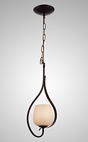 SL® Iron Painting Pendant Light with Glass Shade Classic Lighting Lamp 1 Head
