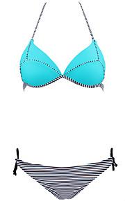 Damen Bikinis - Einheitliche Farbe Push-Up / Drahtlos / Gepolsterte BHs Nylon / Elasthan Halfter