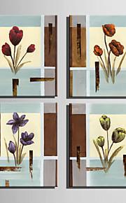 ミニサイズの電子ホーム油絵現代の花のレトロなパターン純粋な手は、フレームレス装飾画を描きます