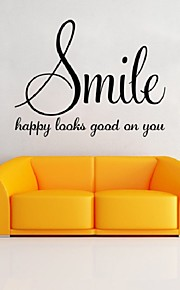 Smiling Wall Sticker Quotes Art Vinyl Removable Home Decor Sexy Lip Print Wall Decals