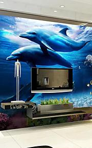 아트 데코 벽지 콘템포라리 벽 취재,기타 Large Mural Wallpaper Dolphin