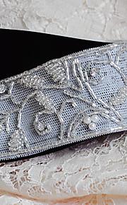 Satin Mariage / Fête/Soirée / Quotidien Ceinture-Billes / Perles / Strass Femme 250cm Billes / Perles / Strass
