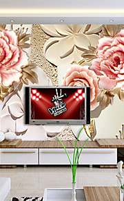 JAMMORY Floral Wallpaper Luxury Wall Covering,Other Peony Large Mural Wallpaper