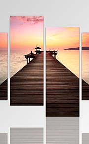 Abstracto / Fantasia / Lazer / Paisagem / Fotografia / Moderno / Romântico Impressão em tela 4 Painéis Pronto para pendurar,Horizontal