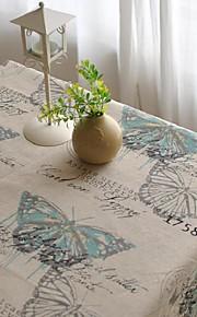 vlinder patroon tafelkleed mode hotsale hoogwaardige katoen vierkante salontafel hoes van textiel handdoek
