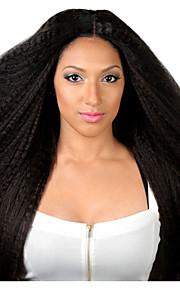7 a käsittelemättömät 100% Intian liimattoman neitsyt hiuksista kinky suoraan tyyliin täynnä Nyörilliset pitsi hiukset peruukki