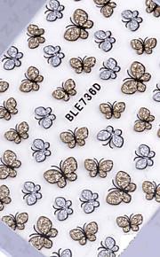 vackra silverglitter rosett spik smycken