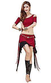 Belly Dance Outfits Women's Training Modal Sash/Ribbon 2 Pieces Fuchsia / Orange / Burgundy