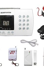 PSTN trådløst hjemme huset sikkerhet anti tyveri inntrenger innbruddsalarm telefonlinje basert