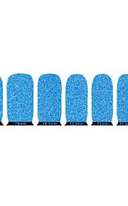 vackra blå miljövänliga glitter spik smycken