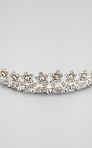 Women's / Flower Girl's Alloy / Cubic Zirconia Headpiece-Wedding Tiaras 1 Piece
