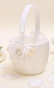 Flower Basket Satin Vegas Theme / Floral ThemeWithFaux Pearl