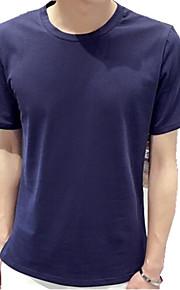 Camiseta De los hombres Casual Letra-Algodón-Manga Corta