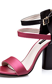 Белый / Серебристый / Цвета шампанского / Бордовый-Женская обувь-Для праздника-Дерматин-На толстом каблуке-На каблуках / С круглым носком