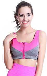 YUIYE® Hot Sale Women Sports Bra Yoga Underwear Ultra-thin Breathable Vest No Rims Running Fitness Bras Orange Rose