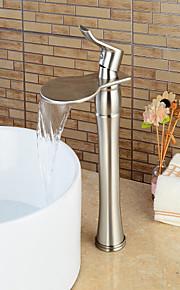 Conjunto Central Single Handle Uma Abertura in Níquel Escovado Torneira pia do banheiro