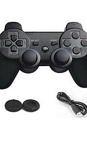 Dual Shock nya trådlösa bluetooth spelkontroll + analog joystick knapp skydd för PS3