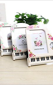 6 inch Piano Shape Art Frame Picture Photo Frame Alarm clock Home Decor