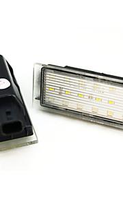 2pcs re-dirigido Nault matrícula de la lámpara 12V 14W LED con decodificador llevada especial